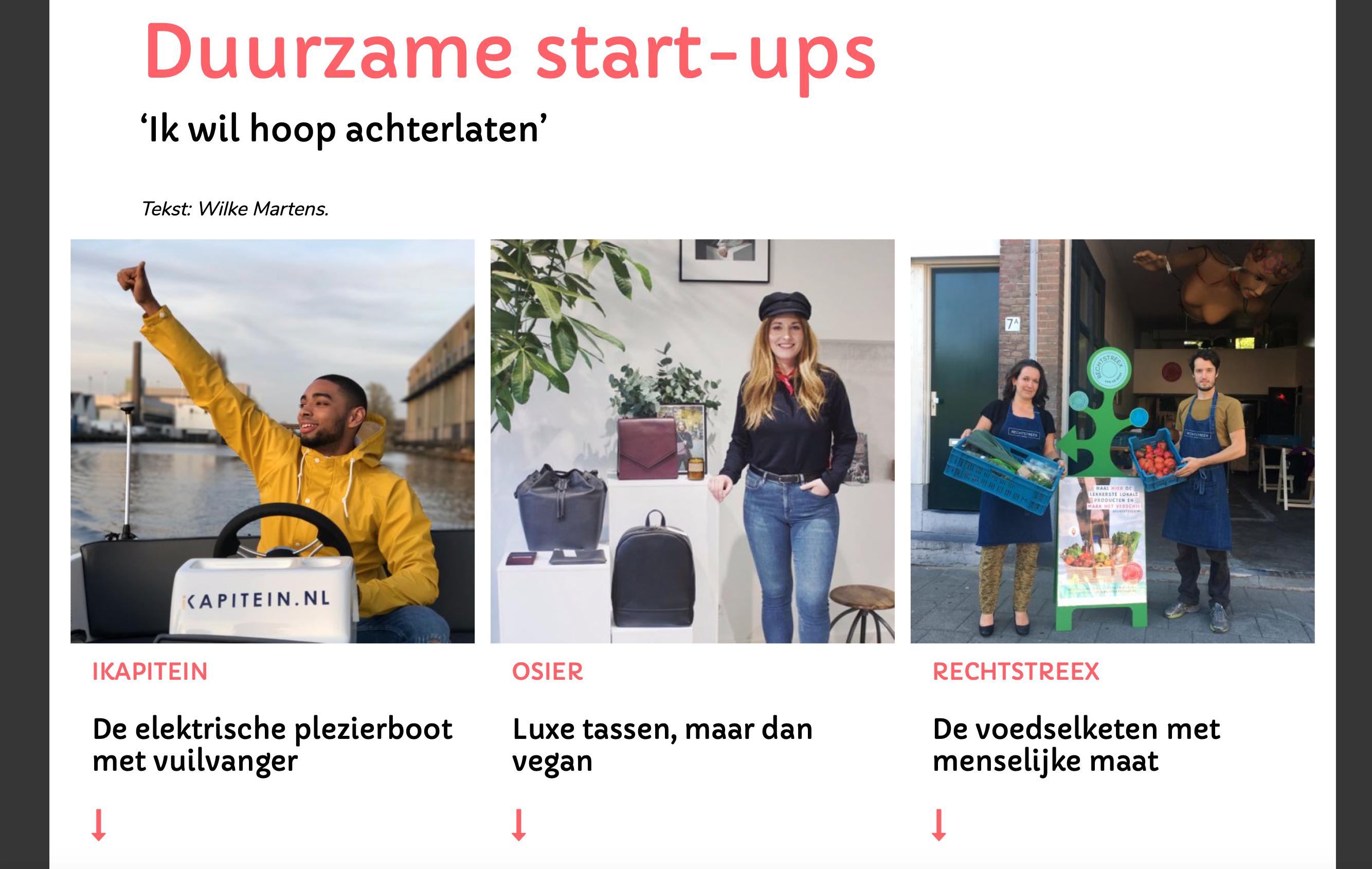 Duurzame start-ups – 'Ik wil  hoop achterlaten'