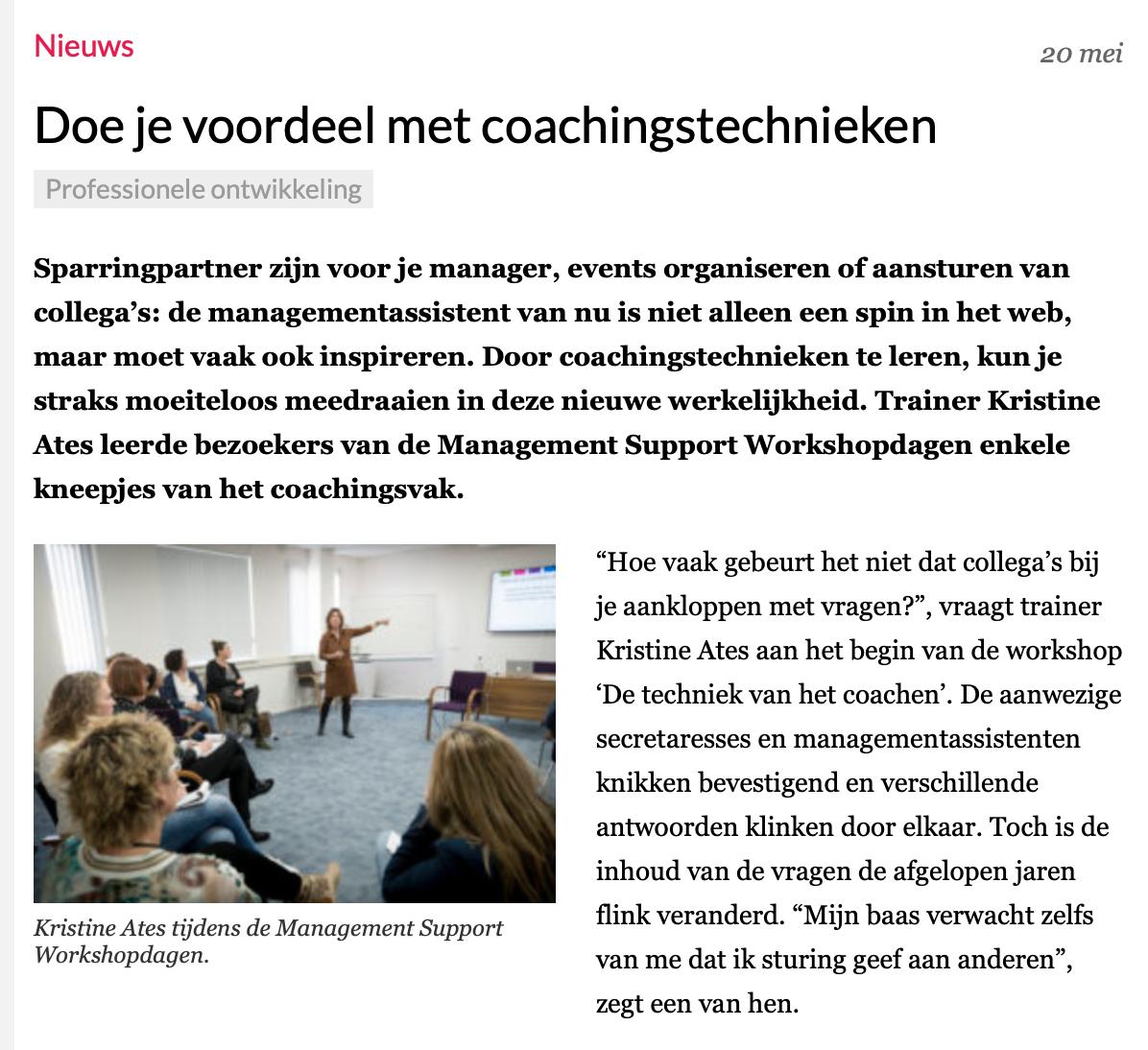 Doe je voordeel met coachingstechnieken