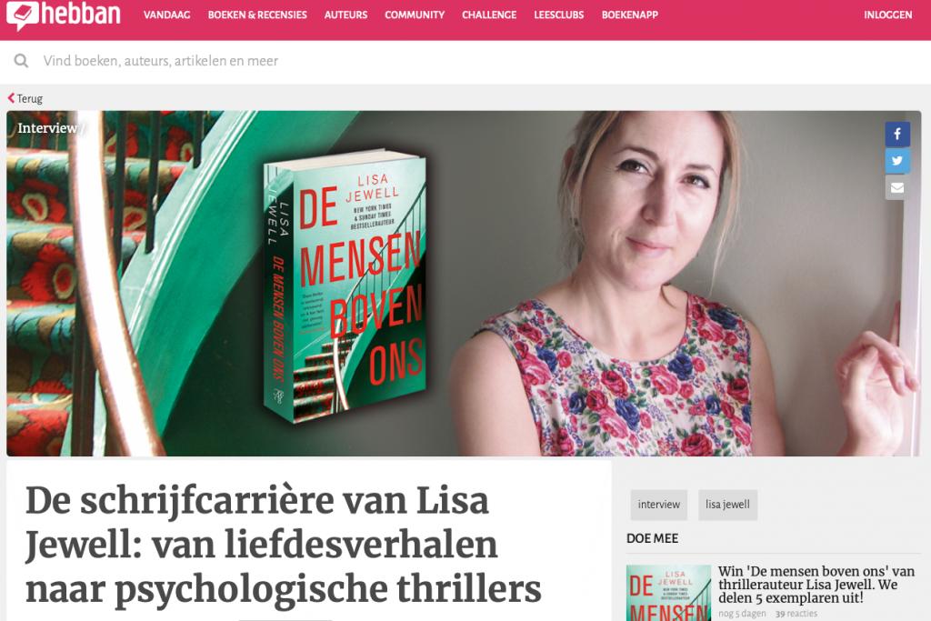 Interview Lisa Jewell - Hebban.nl