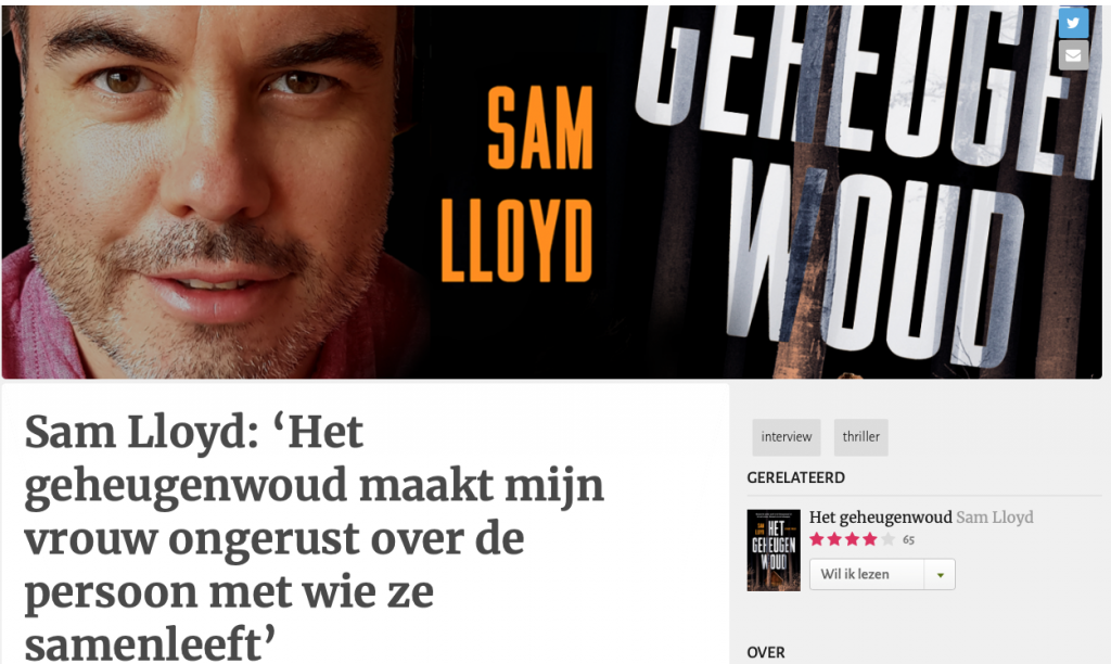 Interview Sam Lloyd - Hebban.nl
