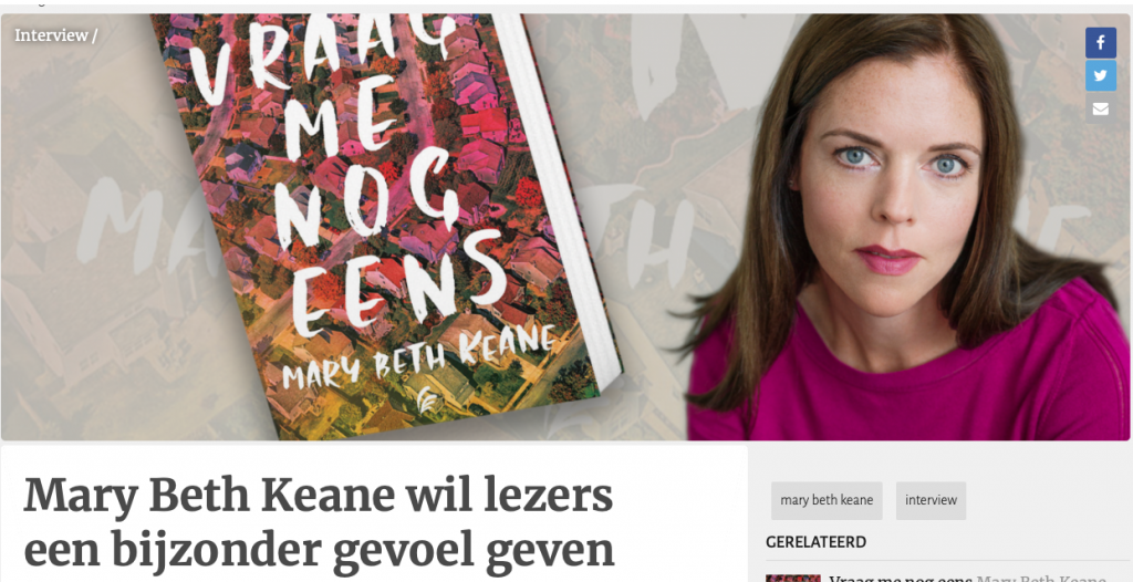Interview Mary Beth Keane - Hebban.nl