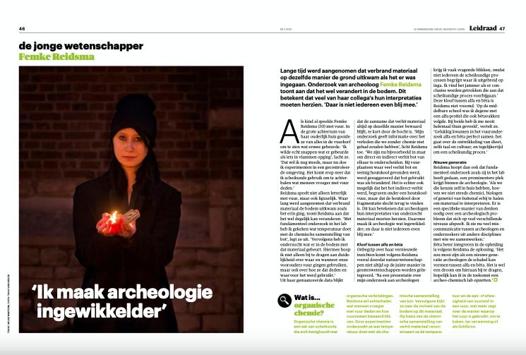 Femke Reidsma: 'Ik maak archeologie ingewikkelder'